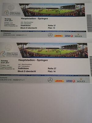 chio aachen final sonntag 23 juli 2017 2 tageskarten hauptstadion springen eur 120 00. Black Bedroom Furniture Sets. Home Design Ideas