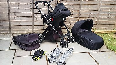 Babystyle Oyster Black Travel System Single Seat Stroller pushchair Baby style
