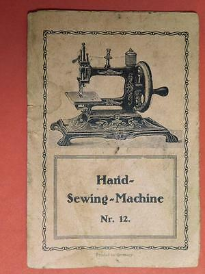 Hand Sewing Machine Nr. 12 Instruction Foldout Booklet 1800s