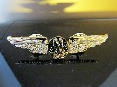WINGS AMERICAN AIRLINES AA metal Wing Pin Gold for Pilots Crew Replica 55mm