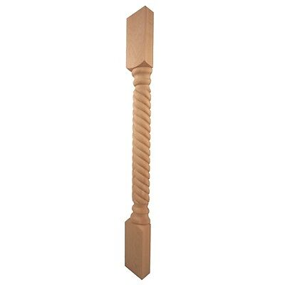 """35-1/4"""" Tall- Rope Half Wood Post- For Cabinet or Island-   POST-C-H"""