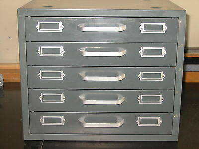 neumade cabinet 35mm slide storage 5 drawer 260 slots per drawer