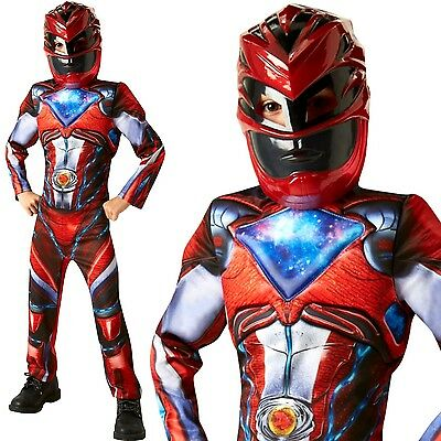 Child DELUXE POWER RANGERS Movie Superhero Boys Fancy Dress Costume Book Week