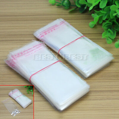 400*Packing Self Adhesive Seal Resealable Bags Plastic Clear Gift Storage 4x10cm