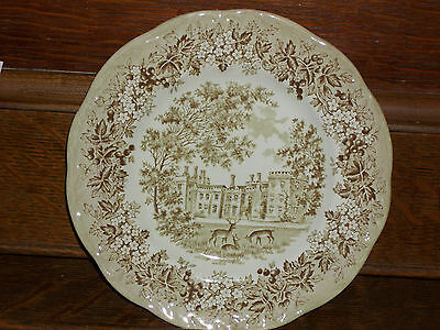 Penshurst Place Deer Ironstone Meakin Romantic England 7 inch Brown Green Plate