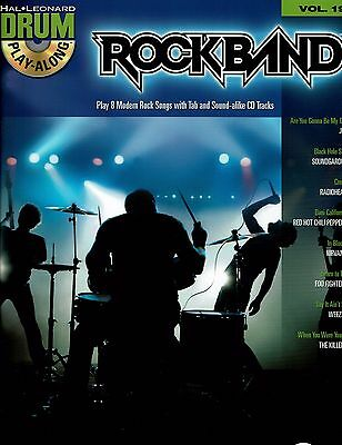 Rock Band Drum Play Along With CD Song Book