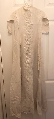 Antique Eyelet and Cotton Christining Gown Stunning