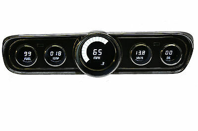 1965-1966 Ford Mustang Digital Dash Panel Gauges by Intellitronix White LEDs
