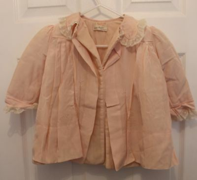 Antique Lord & Taylor Baby Jacket Hand Made with Lace Trim by Yolande