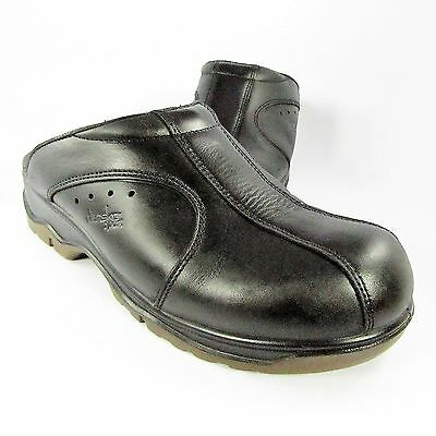 Mens Dansko Sport Clogs Size 10M (EU 43) Black Leather Slip-On Driving Moccasins