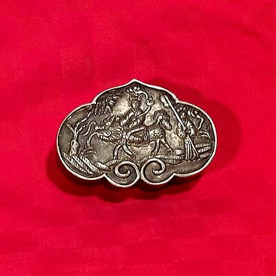 Vintage Chinese Silver Snuff Box