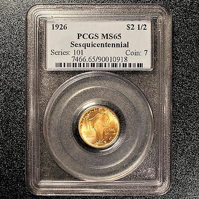 1926 Sesquicentennial $2.50 Gold Commemorative PCGS MS65