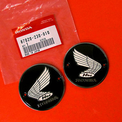 New Tank Badges Emblems 66-69 CA160 CL160 & 60-69 CA77 Genuine Honda Cafe E0042