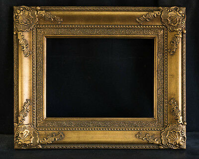 "Antique Reproduction Ornate Gold Frame 12"" x 16"", 4"" Wide, 1 1/2"" Thick"