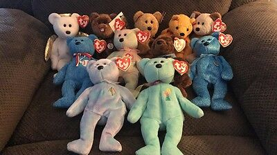 11 Various Ty Beanie Baby Collection. List of Individuals in Details!!!!