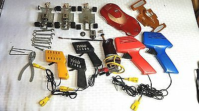 Vintage Lot of Slot Car Parts, Chassis & Controllers 60's & 70's Racing