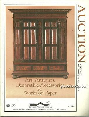 Antiques, Art, Decorative Accessories and Works on Paper 1992 Auction Catalog