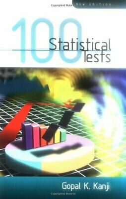 100 Statistical Tests by Kanji, Gopal K Paperback Book The Cheap Fast Free Post