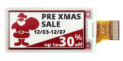 """Sunlight Readable Red and Black SPI 2.13""""E-Paper,E-Ink Display,104x212,SSD1675A"""