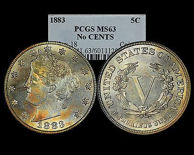 1883 Liberty V Nickel 5C No Cents PCGS MS63 Attractive Toning