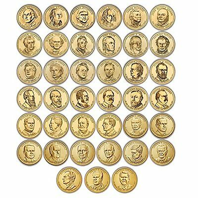 2007-2016 Presidential $1 Dollar P&D 78 Coin Complete Uncirculated Coin Set