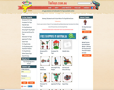 TINTOYS.COM.AU Domain Name Website & Stock also TINTOYS.NET.AU & TINTOY.COM.AU