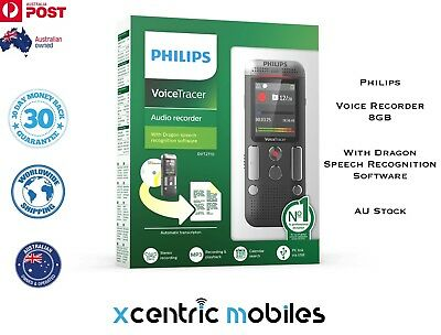 Philips (DVT2710) Voice Tracer 8GB Digital Audio Recorder W/ Speech Recognition