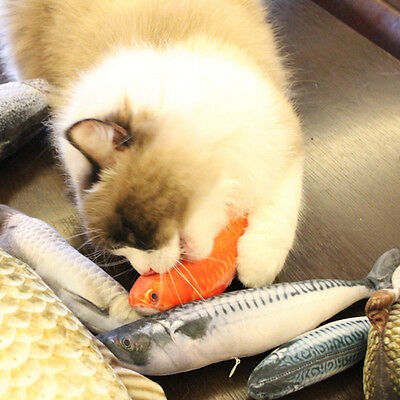 Pet Cat Playing Chewing Toy Cat Play Fun Toy Mint Plush Simulation Fish 20cm New