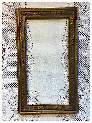 Original antique deco picture frame gold , parrish looking 5 x 9 7/8 .. 5 x 10