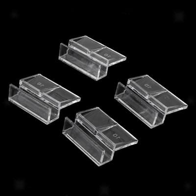 8pcs 10mm Acrylic Clips Clamps Support Holders Aquarium Tank Glass Cover