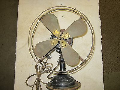 """Antique Robbins & Myers Oscillating Electric Fan 12"""""""