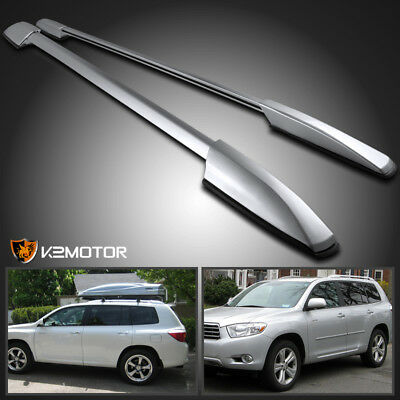 For 2008-2013 Toyota Highlander Aluminum Factory Style Roof Rack Side Rails Pair