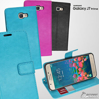 Wallet Flip Card Slot Stand Case Cover For Samsung Galaxy J7 Prime