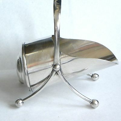 Vintage Silver Plated Sugar Scuttle Hukin Heath Scoop Bowl