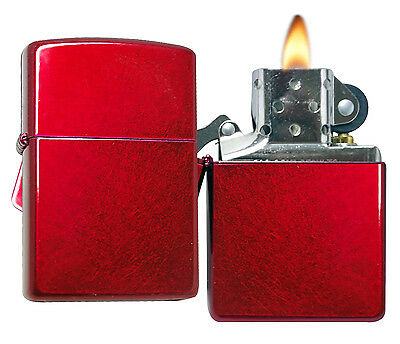 Zippo Lighter 21063 Candy Apple Red Windproof Classic NEW
