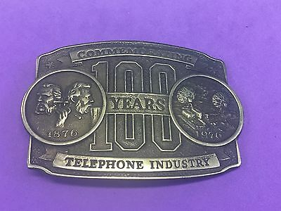 Limited Edition 100 Yrs Commemorating Telephone Industry Belt Buckle 1876-1976