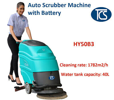 TCS NEW Commercial Auto Scrubber Cleaner Floor Scrubber / Drier / Battery