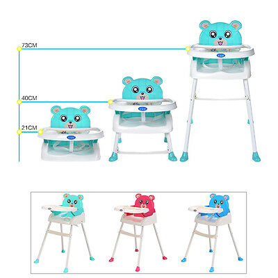 4 in 1 Baby High Chair Convertible Table Seat Booster Highchair Toddler Feeding