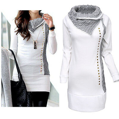 Women Winter Long Sleeve Pullover Hoodie Jacket Sweater Coat Hooded Jumper Tops