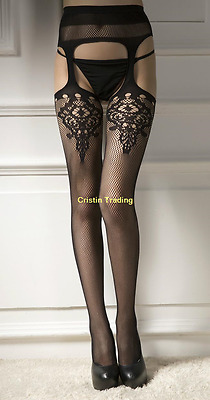 Women Hollow Black Lace Top Stay Up Thigh High Stockings Pantyhose Long Socks