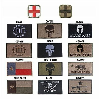 Multi-style 3D Bordado Militar Tactical Army Morale Patch Sew Badge Decors