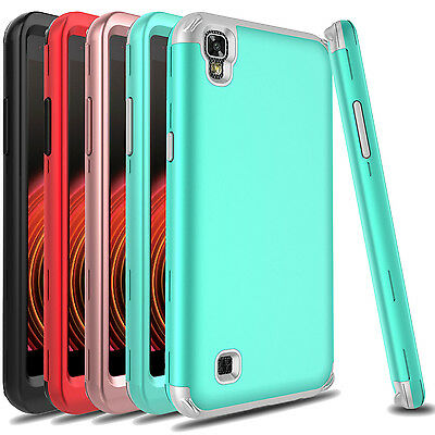 For LG X Power /LS755/K450 Shockproof Armor Hybrid PC+TPU Hard Phone Case Cover