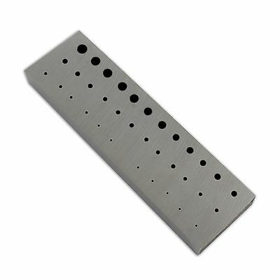Rectangular Staking anvil 36 holes serrations watch riveting watchmakers tool LG