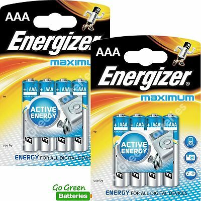 8 x Energizer AAA Alkaline High Tech Batteries - HiTech LR03 MX2400 MN2400 MICRO