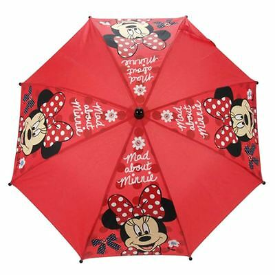 Officially Licensed Children's Disney Minnie Mouse Red Stick Umbrella