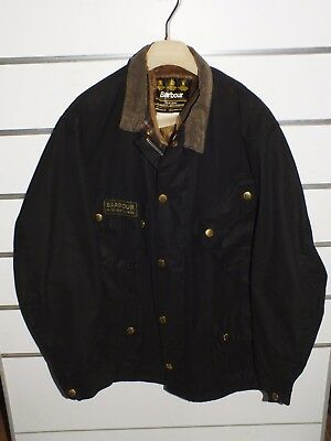 barbour international jacket   jacke waxed cotton c44-112 xl