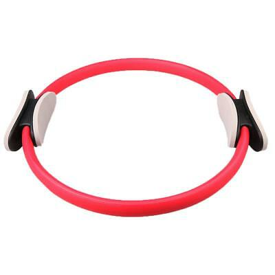 Pilates Resistance Ring Circles Gymnastics Yoga Aerobic Double Handle Red