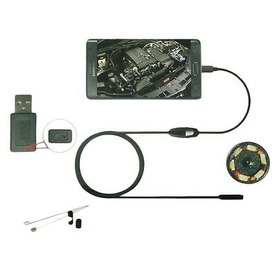6LED 7mm Lens Endoscope Waterproof Inspection Borescope Camera for Android YKYV