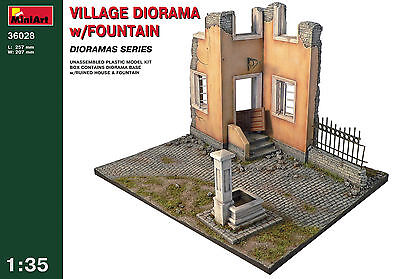 Village Diorama w/Fountain   1/35 MiniArt   # 36028