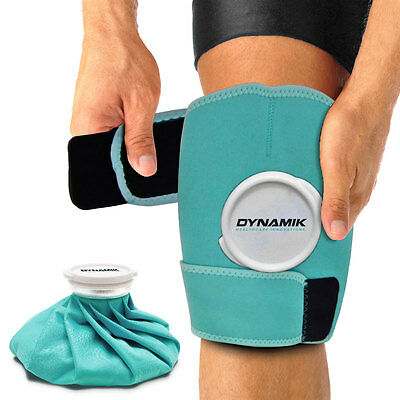 Hot and Cold Dynamik Ice Bag with Neoprene Wrap for Muscle and Joint Pain Relief